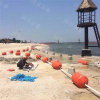 设计入海口弧线拦污漂排浮筒安装图解