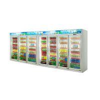 安德利厂家订制七门饮料柜 啤酒牛奶冷藏柜 多门冷冻饮料柜展示柜