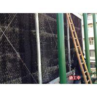 深圳冷却塔维修风度空调冷却塔散热片更换300T横流方塔黑色胶片换新