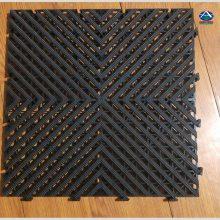 维修车间防滑地板400×400×18mm拼接塑胶地垫格栅【河北华强】