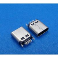 Type-C 母座铆合连接器 USB 3.1 母座夹板0.8 1.0 带接地脚