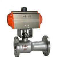 QJ641PPL高温气动一体式浮动法兰球阀