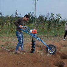 手持式植树挖坑机 启航拖拉机挖坑机 园林植树挖洞机