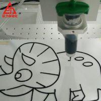 全自动画图机 3D卡通填色画点胶机 桌面旋转式打胶机