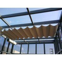 衡水定做折叠式天棚了-玻璃房顶天幕帘-阳光房遮光窗帘厂家