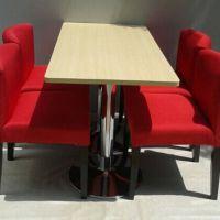 海德利 北欧 实木复古咖啡厅桌椅奶茶甜品店西餐厅酒吧桌椅餐厅餐桌椅组合