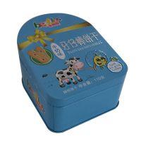牙仔棒饼干铁盒 酥性饼干铁盒 异形饼干礼盒定制