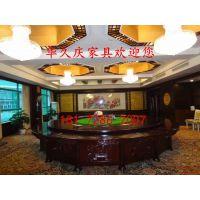电动火锅桌现代中式电动餐桌橡木雕刻桌酒店餐桌椅