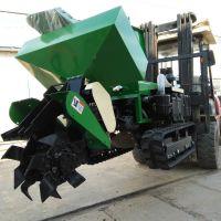 葡萄园开沟施肥一体机 农用履带式旋耕机科博挖沟