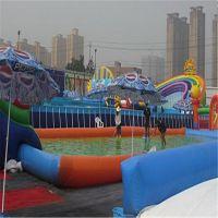 大型室外移动水上乐园游乐设备成人支架游泳池儿童充气水池水滑梯