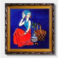 陶瓷板画瓷版画景德镇中堂挂屏大幅玄关中欧式客厅装饰画屏挂画