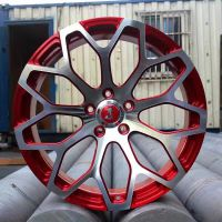 JS单片式私人订制18-22寸锻造轮毂改装铝合金轮圈 野马 克尔维特 宝马 奔驰等车型定制