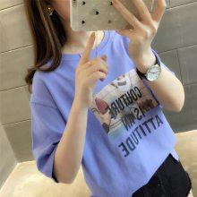 外贸库存品牌尾货 便宜夏装女式T恤 时尚T恤 清仓特价批发