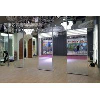西安厂家舞蹈教室镜面多功能移动隔断专业定制