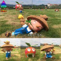 广州尚雕坊供应农场农田草莓园甘蔗地水果园守护人稻草人玻璃钢卡通人物雕塑