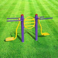佛山市户外健身路径批发价格 体育运动场健身器材款式齐全双位钟摆器