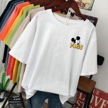 2018广州时尚韩版便宜棉T恤短袖批发厂家摆地摊货源白色