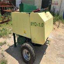 草料场供应青饲料青贮打捆包膜机 方便实用饲草储存时间长的打捆包膜机