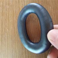 厂家直销高端吸塑成型耳机套 车缝蛋白质皮耳套 可按客人要求定制