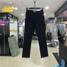 中山韩版女士牛仔裤小脚裤 潮流韩版九分裤大量批发 松紧腰牛仔裤低价处理