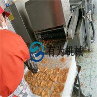 鸡排油炸机,雪花鸡柳上糠机,鸡排裹粉机多少钱