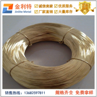 国标H85光亮黄铜扁线 铆钉专用黄铜线规格表