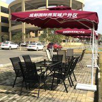 合肥大学校园景观休闲太阳伞桌椅组合