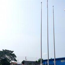 金聚进 汽车站国旗杆 大型商业广场展示旗杆 不锈钢锥形管销售