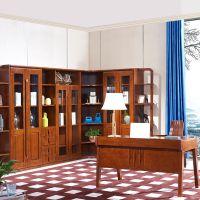 现代中式橡木角柜书房组合书柜