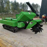 柴油28马力履带式开沟除草机价格 富兴批发低矮果园开沟施肥回填旋耕一体机
