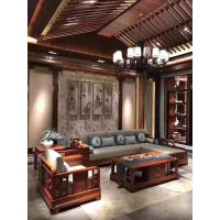 深圳刺猬紫檀红木转弯拐角组合贵妃沙发5件套价格图片