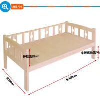 鸿腾最新款6001#幼儿实木床 单层带梯实木床