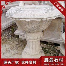 花钵价格厂家 按尺寸定制石材花钵 园林特色花盆