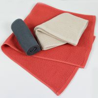 工厂直营批发 日式蜂窝造型40支精梳纯棉面巾 男女通用洗脸巾