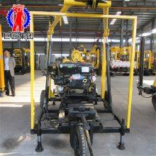 XYX-180轮式回转式水文地质水井钻机 华夏巨匠小型轮式打井机厂家直销