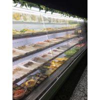 【开火锅店用那种风幕柜比较好】 火锅菜品展示柜价格