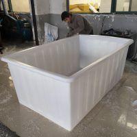 山东1100L水产方箱 洗水漂染塑料方箱