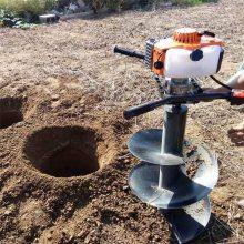 汽油轻便种植挖坑机 小型植树打眼机 宿州手提打坑机