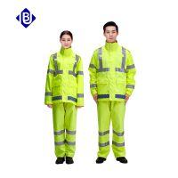 优博 交警执勤反光雨衣 3M反光条 防水保暖冲锋衣 厂家直销 现货