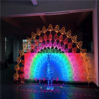 灯熠供应节日装饰灯画 鸽子图案灯 平面孔雀造型灯 灯光节亮化产品