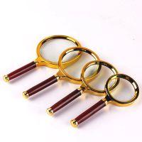 厂家直销 挂板式 木柄放大镜 手持放大镜 镜片 放大镜镜片 木柄