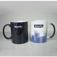 热转印马克杯 磨砂涂层杯 感温变色陶瓷杯定制logo印照片感温变色