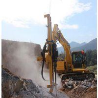 开挖孔桩遇坚硬岩石钻孔设备劈裂设备推介深凯建设