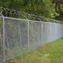 厂家供应广州动物园菱形网 热镀锌勾花网 东莞养殖场铁丝网围栏