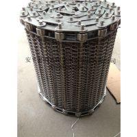 河北金属网带 平衡型输送带 左右螺距旋网 耐高温包装机械网带