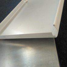 办公室天花板装修磨砂铝扣板 中石化防风条扣板