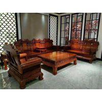 名琢世家传统生漆工艺刺猬紫檀象头如意沙发123六件套价格