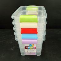 孝感透明塑料收纳箱手提杂物整理箱价格家用有盖玩具零食收纳盒三件套批发15586200459