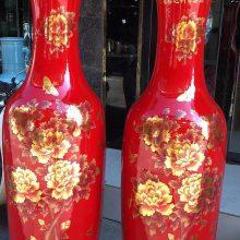 青花瓷陶瓷大花瓶批发 清明上河图大花瓶价格 1.6 1.8 2米落地手绘酒店装饰大花瓶厂家