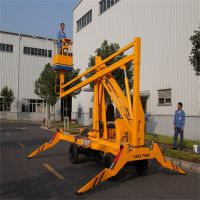 厂家生产10米电动曲臂升降机 折臂升降机液压升降梯 园林修剪作业好助手